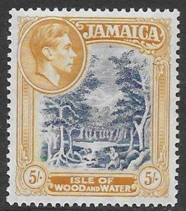 Jamaica  127b   1950  5 sh  fvf    mint - hinged