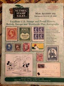 Nutmeg Stamp Sales: Mail Auction 103, U.S. Stamps, Postal History, British