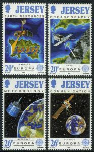 Jersey 559-562, Postfrisch Europa Cept. Satelliten und Ihre Funktionen, 1991