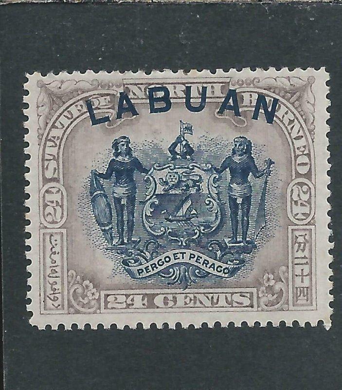 LABUAN 1894-96 24c PALE MAUVE MM SG 73 CAT £42