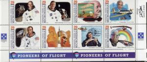 Micronesia 191 Bottom Block MNH Aircraft, Space, Aviators