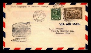 Canada 1931 FFC Ft Chipewyan to Embarras Portage - L7965