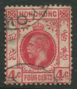 Hong Kong - Scott 111 - KGV - Definitive - Used - Single 4c Stamp