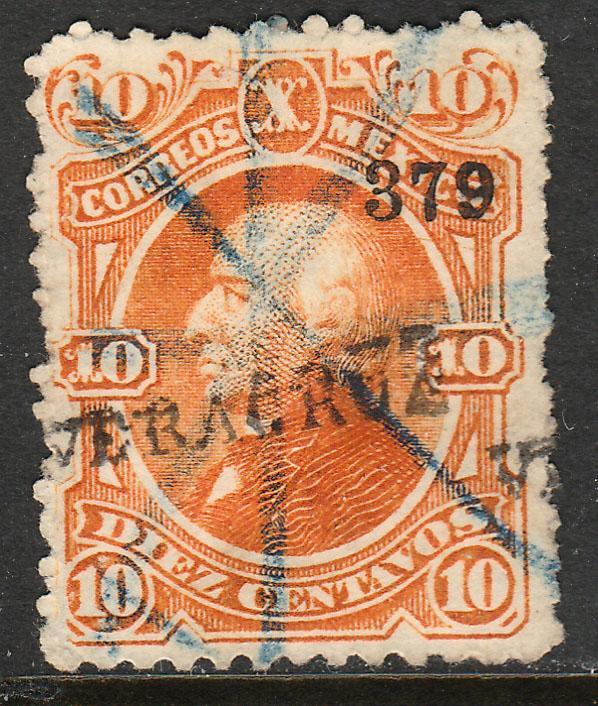 MEXICO-Veracruz 108, 10c 379 ABN Issue, single. USED, CRAYON CCL. F. (18)