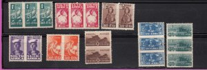 J28452, 1942-3 south africa mh set #90-7, $45.60 scv