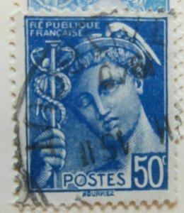 A8P7F156 France 1938-42 50c used