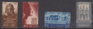 Egypt #B9-12 Mint VF-NH 1947 Art Exposition Set  2015 Cat. $9.75