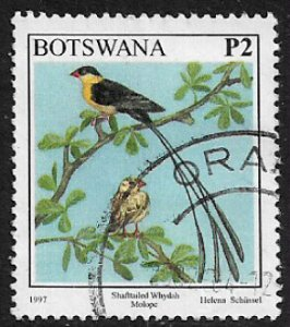 Botswana #634 Used Stamp - Shafttailed Whyduh - Bird