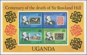 Uganda 1979 Sc 278a Birds Sir Rowland Hill