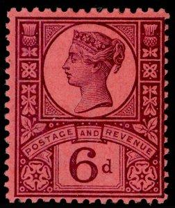 SG208 SPEC K37(1), 6d purple/rose-red, M MINT. Cat £40.