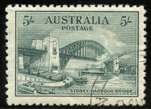 AUSTRALIA SCOTT#132   5/ SYDNEY BRIDGE WITH FULL GUM --SCOTT VALUE $350.00
