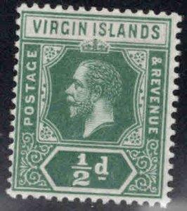 Virgin Islands  Scott 38 MH* KGV wmk 3, die 1