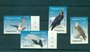 Tajikistan - Sc# 161-4. 2001 Birds of Prey. MNH $6.75.