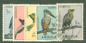R15-0015 ANGOLA 333,335-8 USED BIRDS BIN $2.00