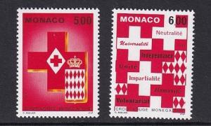 Monaco  #1880-1881   MNH  1993   Red Cross of Monaco