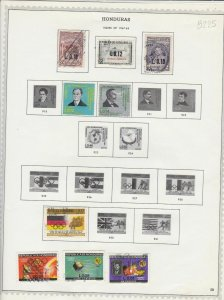 honduras issues of 1967/68 & 1969/70 stamps sheet ref 17801