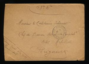 FRANCE 21-4-1915 - S.P. 86 Cachet à Date Simple Cercle TRESOR & POSTES sur LSC