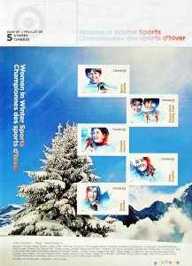 Canada Stamp #3079 - Women in winter sports (2018)
