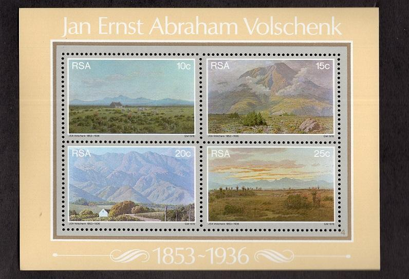 South Africa  #505-508a  1978 MNH Volschenk Painter sheet landscapes