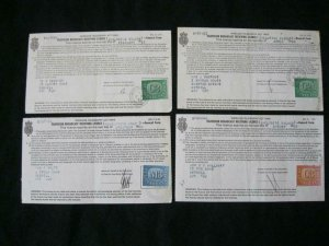 8 TV LICENCES WITH TV LICENCE STAMPS