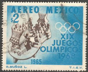 MEXICO C311, $2P 1st Pre-Olympic Issue - 1965 Used (53)