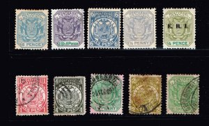 UK Transvaal Africa Stamp MINT (THIN) + USED STAMPS COLLECTION LOT
