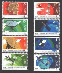 Kinshasa. 1983. 822-29. Communication satellites space. MNH.
