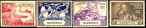UPU, Universal Postal Union 75th Anniv, Mauritius SC#231-234 MNH set