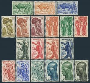 Cameroun 304-321,lightly hinged. Zebu,Ticar women,Bananas,Bowman,Lamido horsemen
