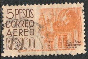 MEXICO C196, $5P 1950 Definitive wmk 279 Used. F-VF. (947)