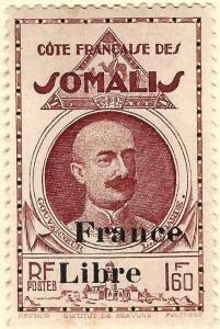 Somali Coast #214  Mint OG F-VF hr...Fill out your French Colony spaces!