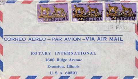 Nigeria, Airmail, Cats