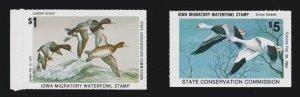 US IA6 & IA11 $1 & $5 Iowa State Duck Stamps SCV $39