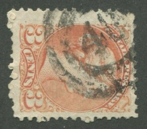 CANADA #37 USED SMALL QUEEN 2-RING NUMERAL CANCEL 40