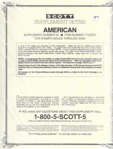 Scott American 170S000 Supplement 2000