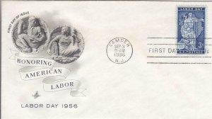 1956, Honoring American Labor, Artcraft, FDC (D14479)