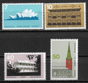 1973 Australia 584-7 Austrlian Architecture C/S MNH