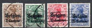 Belgium - German Occupation - 1914-1915 #N1-4 *USED*