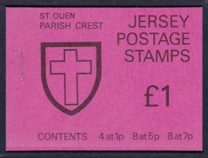 Jersey St.Ouen Parish Crest £1 Booklet SG#SB26