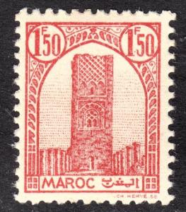 French Morocco Scott 187  VF unused no gum.