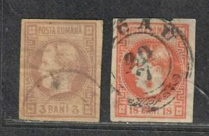 Romania Sc#34+36 Used/VF, Partial Set, Cv. $70