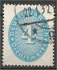 GERMANY, 1931, used 4pf, Numeral Scott O63