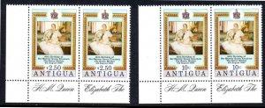 ANTIGUA 585 MNH PAIRS SCV $3.00 BIN $1.80 ROYALTY