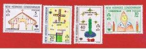 New Hebrides(British) #272-275  MVFLH OG   Christmas  Free S/H