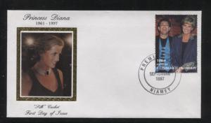 Niger-Scott 944-FDC- Princess Diana Memorial-Silk Cachet -30th Sept.1997 - 180fr