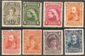 Newfoundland 1897-1901 Scott 78-85 Royal Family MNH