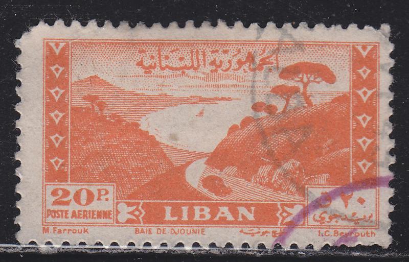 Lebanon C122 Bay of Jounie 1947