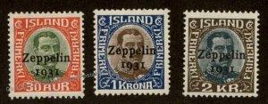 Iceland Graf Zeppelin C9-C11 Islandfahrt Stamp Set MH 93139
