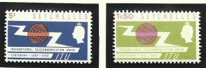 Seychelles Stamps Scott #218 To 219, Mint Hinged