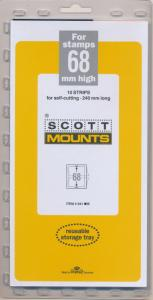 Prinz Scott Stamp Mount 68 / 240 - BLACK Background - Pack of 10